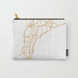 MUMBAI INDIA CITY STREET MAP ART Carry-All Pouch