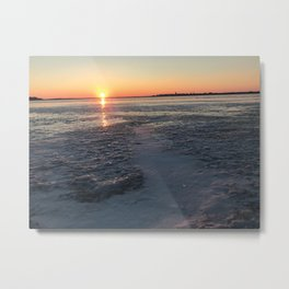Sunset Brings A New Story Metal Print