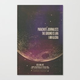 Parachute Journalists - Moonlike Canvas Print