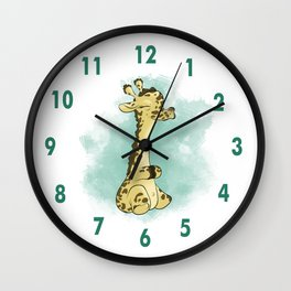Adorable Animals: Giraffe! Wall Clock