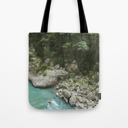 Hiking in France Tote Bag