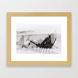 Cape Point ship wreck Framed Art Print