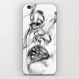 Colored Pencil Portrait iPhone Skin