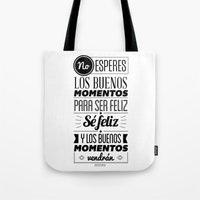quotes Tote Bags featuring Quotes by alesantanderp