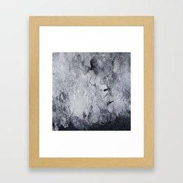 Iced Asphalt Framed Art Print