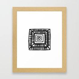 Tribal Print B&W- 02 Framed Art Print