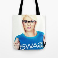 swag Tote Bags featuring Swag by Taylor Brynne-Model