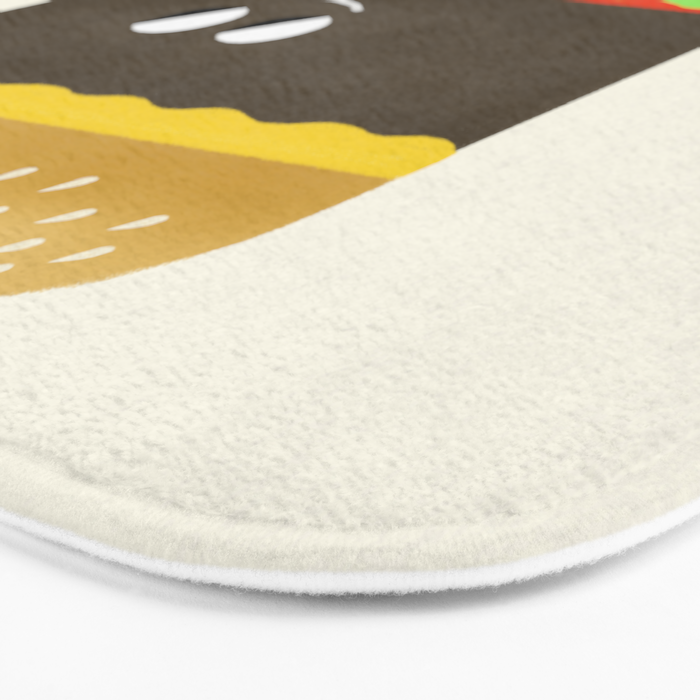 Cheesy Burger Bath Mat