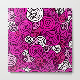 African Style No23, Pink dance Metal Print