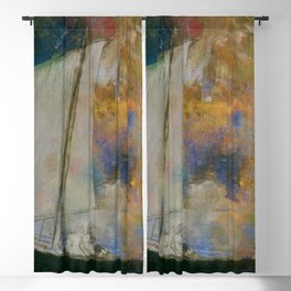 Odilon Redon - Flower Clouds Blackout Curtain