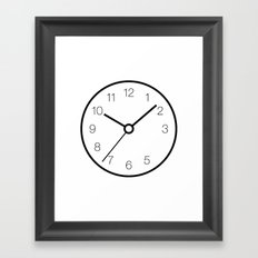 Analog Clock With Missing 4 Set to 10:09:36 Framed Art Print