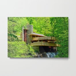 Frank Lloyd Wright | architect | Fallingwater Metal Print
