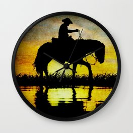 Lonesome Cowboy Wall Clock