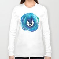 jedi Long Sleeve T-shirts featuring Star Wars Jedi Watercolor by foreverwars