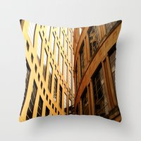 library Throw Pillows featuring Library  by Ethna Gillespie
