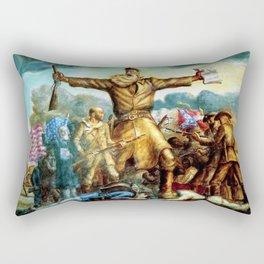 Classical Abolitionist Masterpiece by John Steuart Curry - Tragic Prelude  - John Brown. Rectangular Pillow