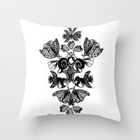 insects Throw Pillows featuring Insects by Sierra Neale