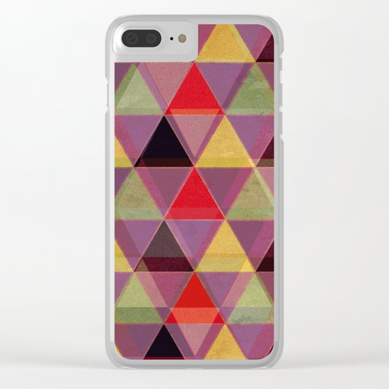 Abstract #548 Clear iPhone Case