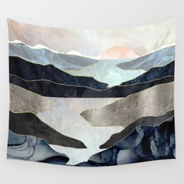 Blue Mountain Lake Wall Tapestry