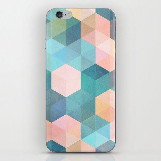 Child's Play 2 - hexagon pattern in soft blue, pink, peach & aqua iPhone Skin