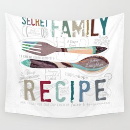 Secret Family Recipe Wall Tapestry