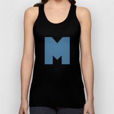 M is for... Unisex Tank Top