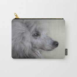 Longing - Silver Standard Poodle Carry-All Pouch