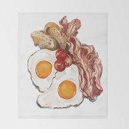The healthy breakfast Throw Blanket