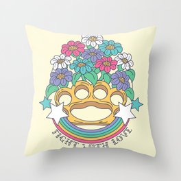 Fight with Love Throw Pillow