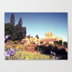castle flowers. Canvas Print
