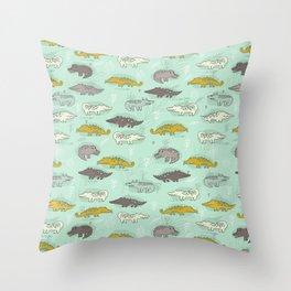 Cute Crocodiles Throw Pillow