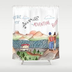 Adventure Buddy Shower Curtain