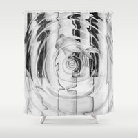 piano Shower Curtains featuring Piano by annelise johnson