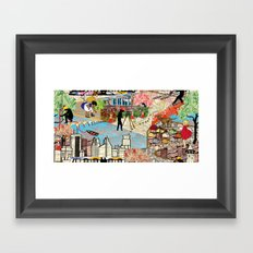 Urban Sightings Collage Framed Art Print