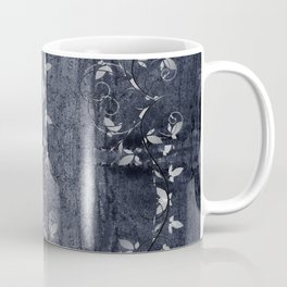 Flower Vines and Concrete Grunge Coffee Mug