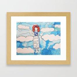 Sky Girl Framed Art Print