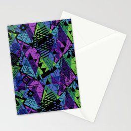Abstract ethnic pattern with bright colours. Stationery Cards