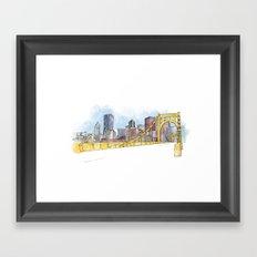 Pittsburgh Sister Bridge Framed Art Print