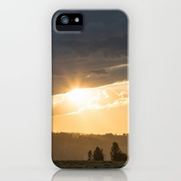 Yellowstone National Park - Sunset, Blacktail Deer Plateau iPhone Case