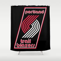 nba Shower Curtains featuring NBA - Trail Blazers by Katieb1013