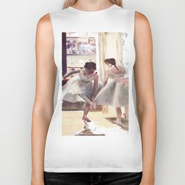 DEGAS DANCERS GREY AND PINK Biker Tank
