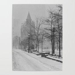 Toronto Flatiron Building in Winter Poster