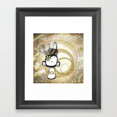 swirl girl Framed Art Print