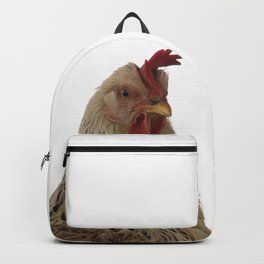 A chicken in the portrait Backpack