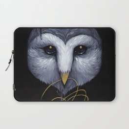 Owl with Gold Thread Laptop Sleeve