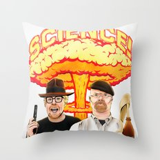 Mythbusters, for science! Throw Pillow