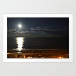 Moon Beamin' Art Print