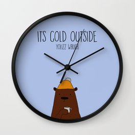 Cold bear Wall Clock