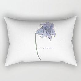 Everyone Blooms Rectangular Pillow