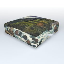 Mountains Forest Rocky River Outdoor Floor Cushion